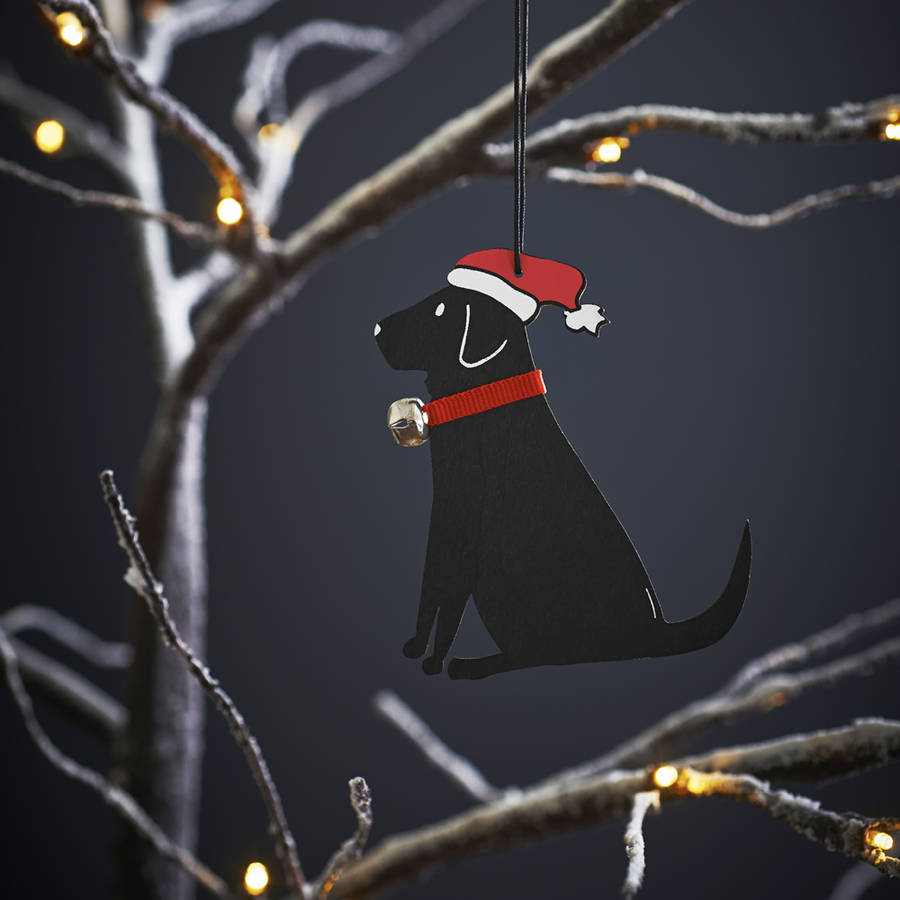 Black Labrador Dog Christmas Tree Decoration By Sweet