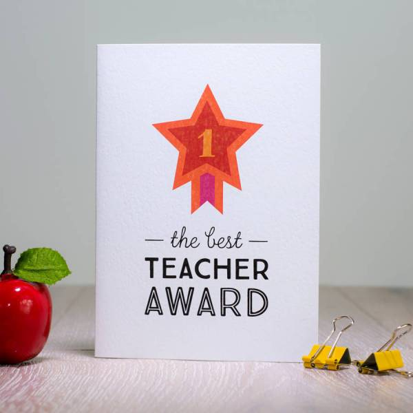 ' Teacher Award' Card Laura Danby