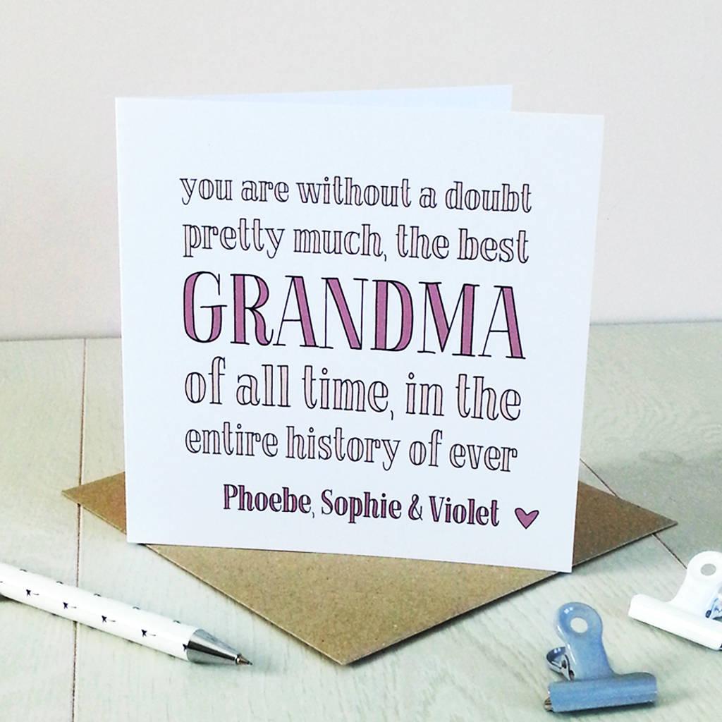 best grandma ever personalised