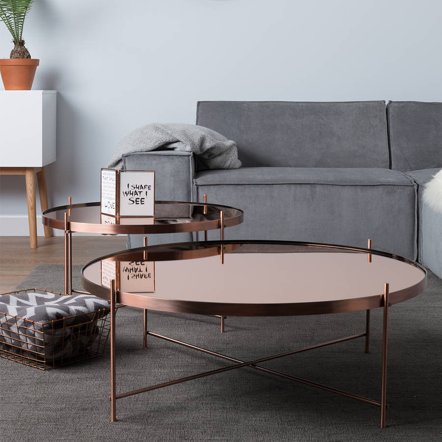 side tables living room contemporary sofas cupid copper table by cuckooland