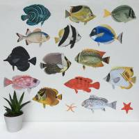 tropical fish aquarium wall sticker set by chameleon wall ...