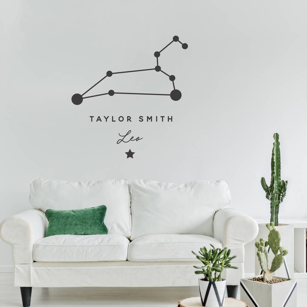 personalised constellation wall sticker