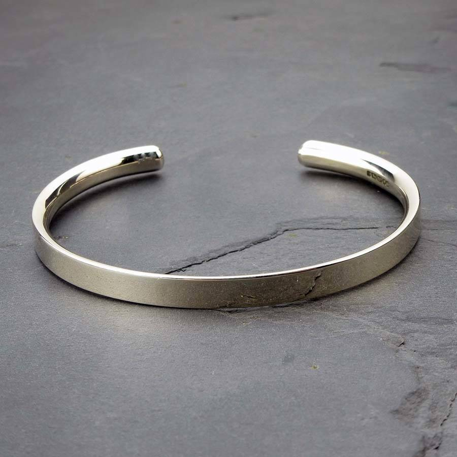 Silver Personalised Men's Bracelet By Hersey Silversmiths