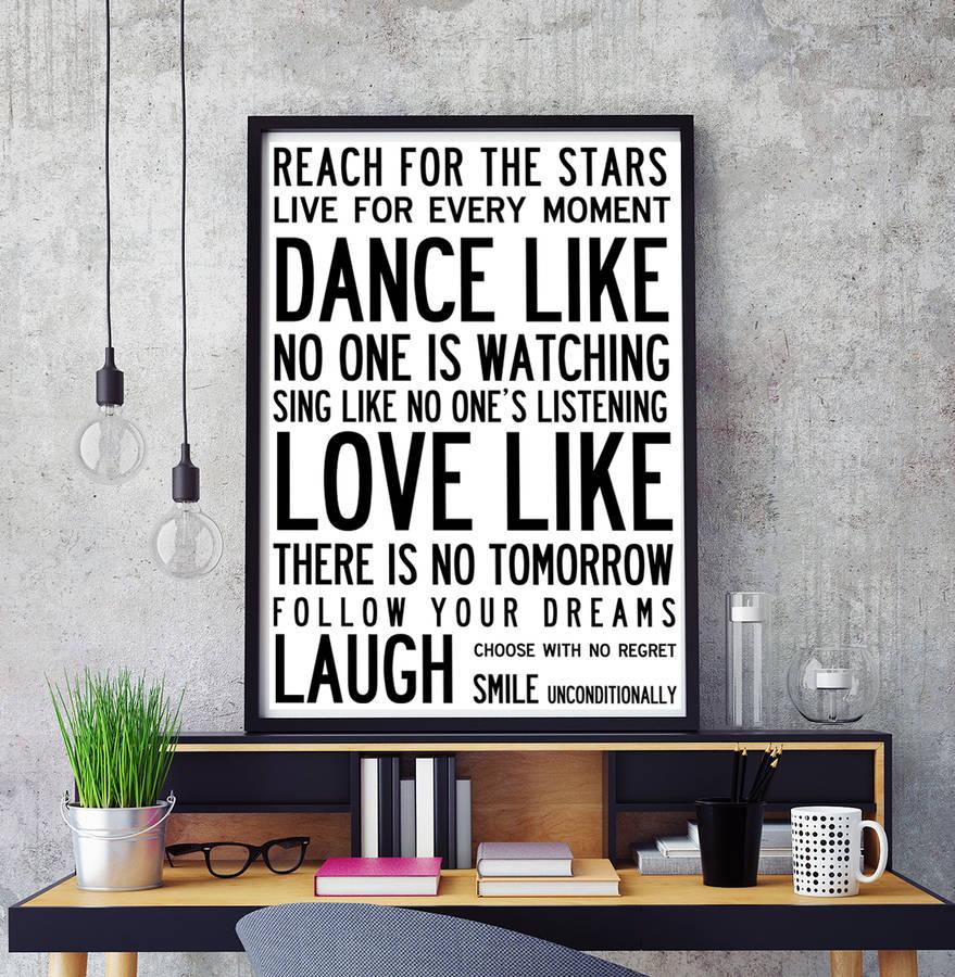 inspiring wonderful words poster