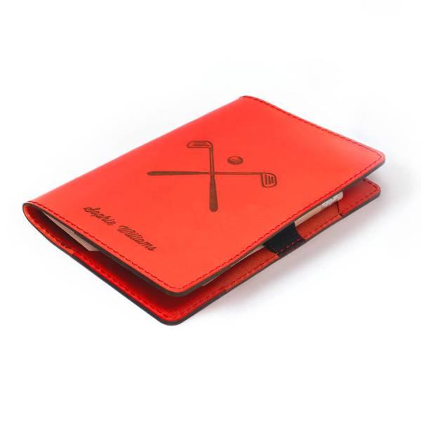 b2dcbe0c31f4 Personalised Leather Golf Scorecard Holder Carve