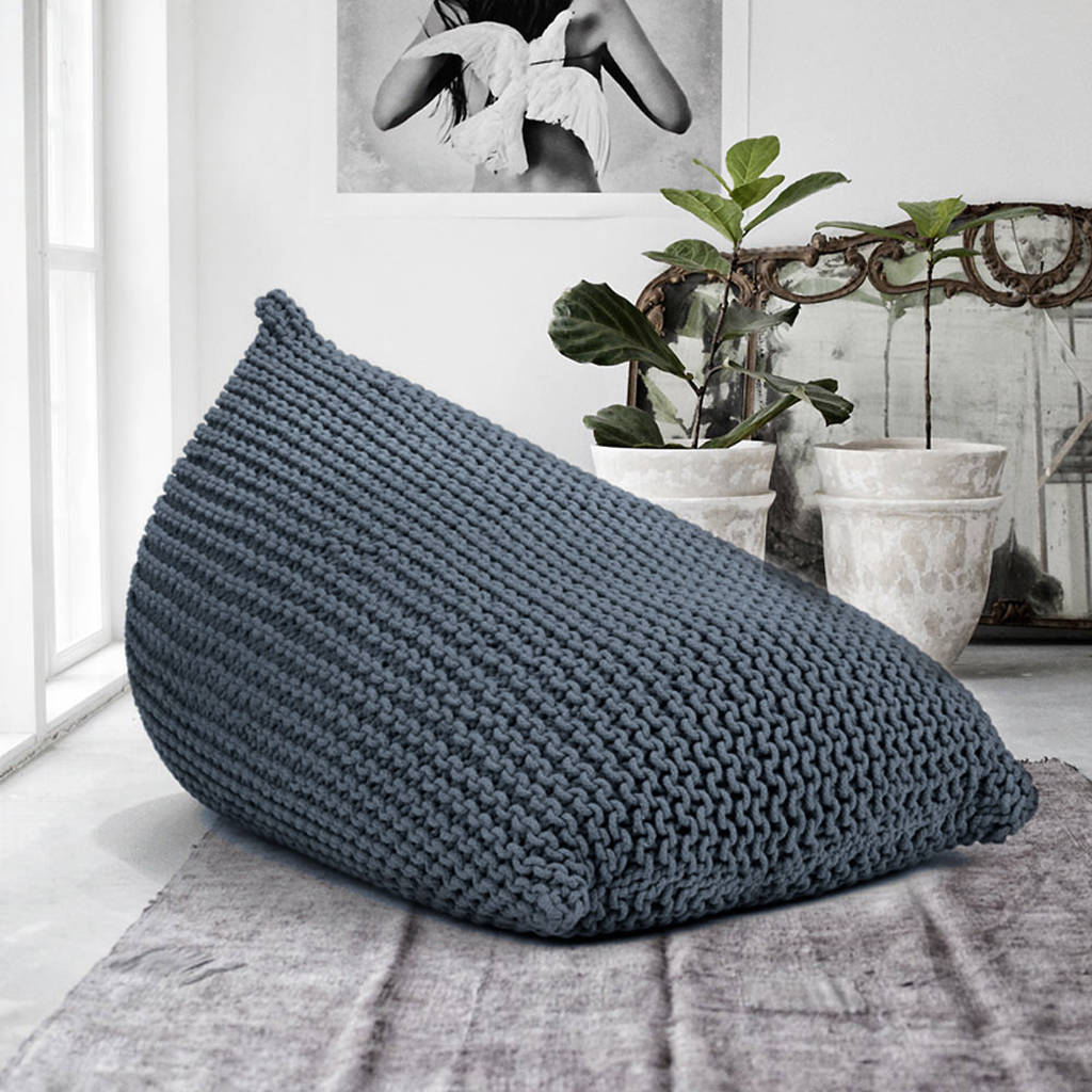 knitted beanbag by grattify  notonthehighstreetcom