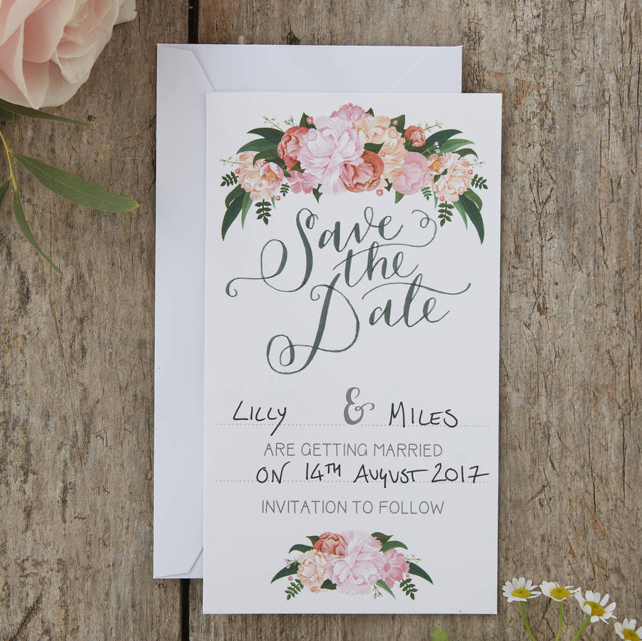 Pack Save Date Cards