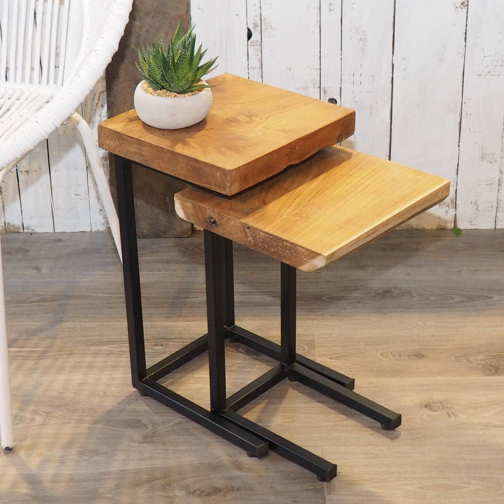 industrial chairs target stool rolling chair wood coffee table nest by za homes