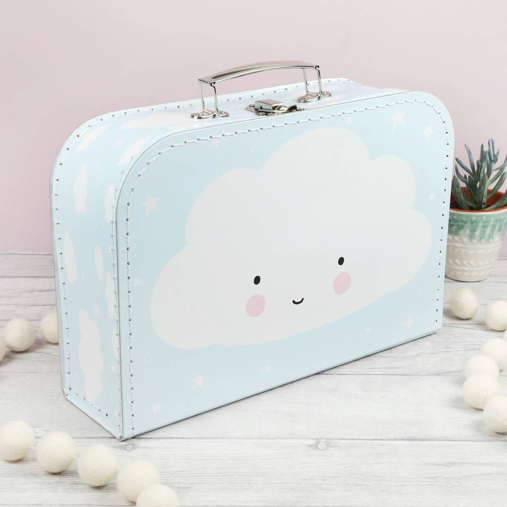 Cute Cloud Suitcase By Lisa Angel