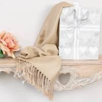 beige pashmina shawl by dibor | notonthehighstreet.com