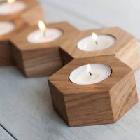 geometric tea light holders by wuddl | notonthehighstreet.com
