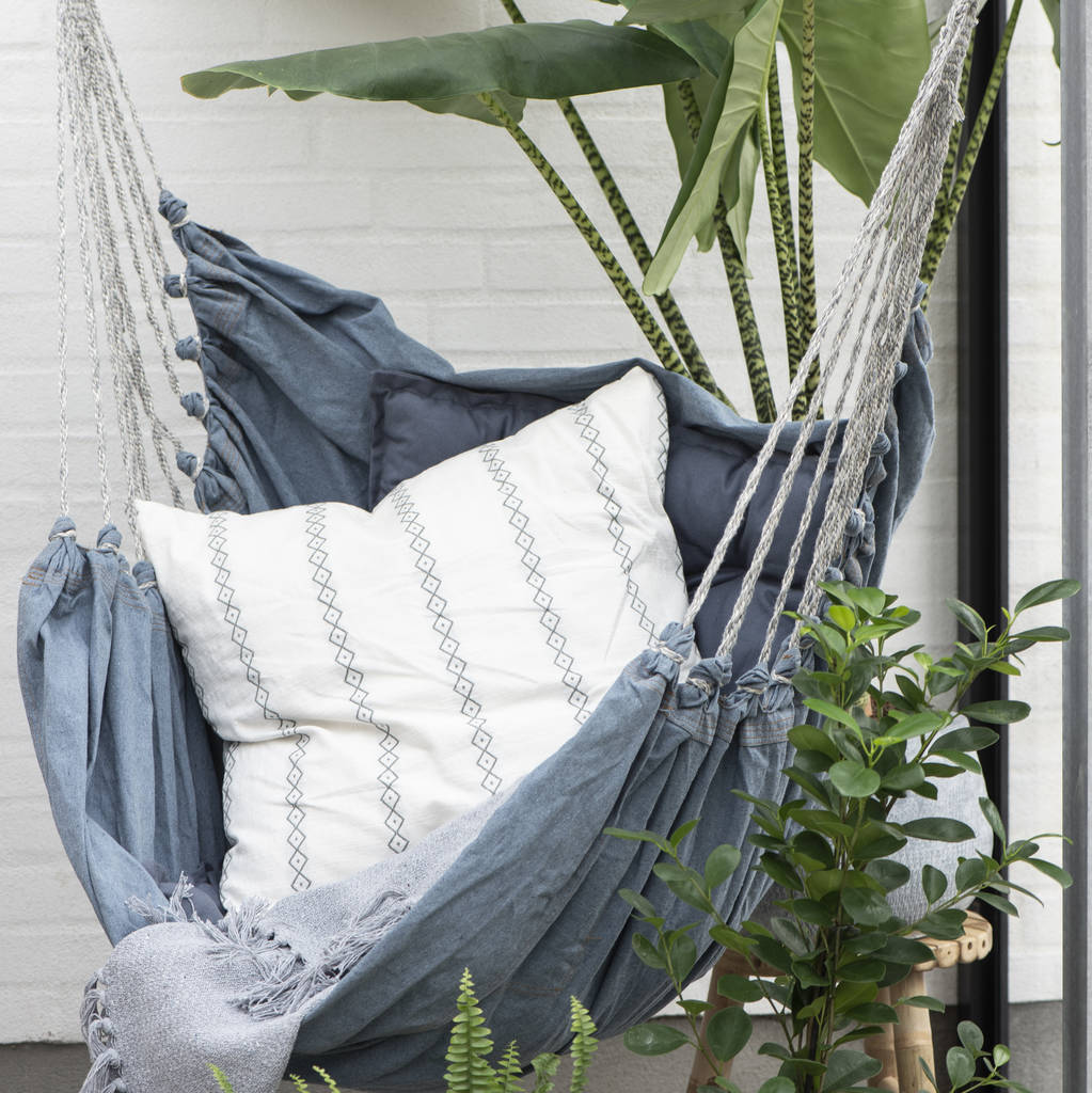 hanging chair notonthehighstreet humanscale handmade denim hammock by ella james com