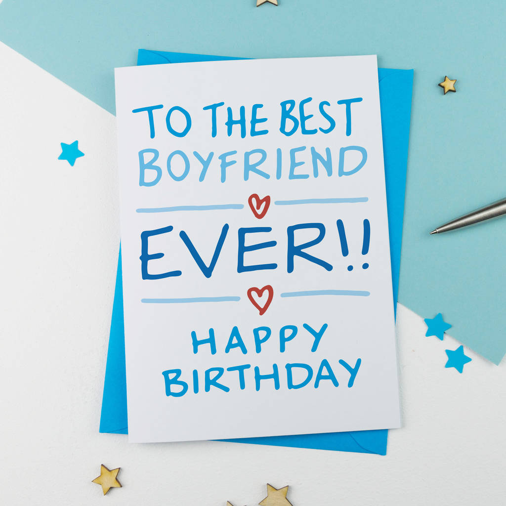 Boyfriend Birthday Card By A Is For Alphabet