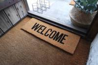 welcome door mat by peastyle | notonthehighstreet.com