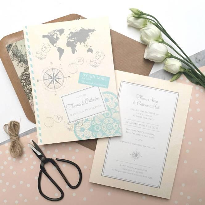 Love Travel Wedding Invitation By Ditsy