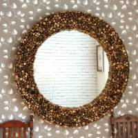 large round driftwood mirror by decorative mirrors online ...