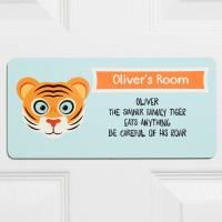 personalised children's animal bedroom door sign by ...