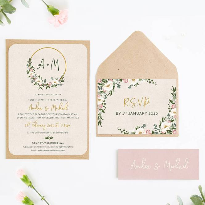 Fl Hoop Wedding Invitations