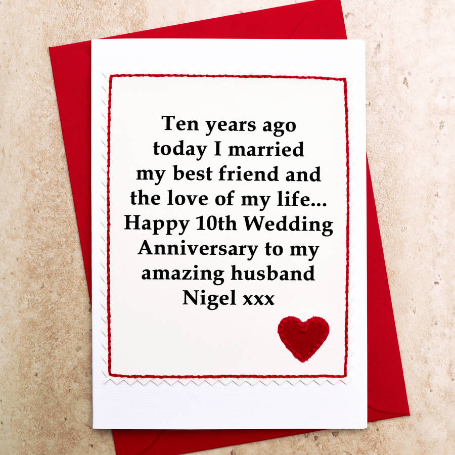 Tenth Wedding Anniversary Gift Ideas For Her