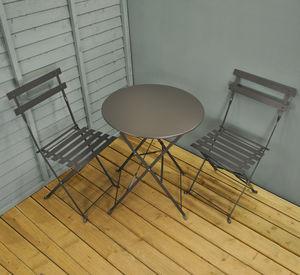 hanging chair notonthehighstreet bucket seat chairs com carbon grey garden bistro set