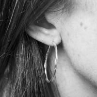 brushed gold vermeil hoop earrings by auree jewellery