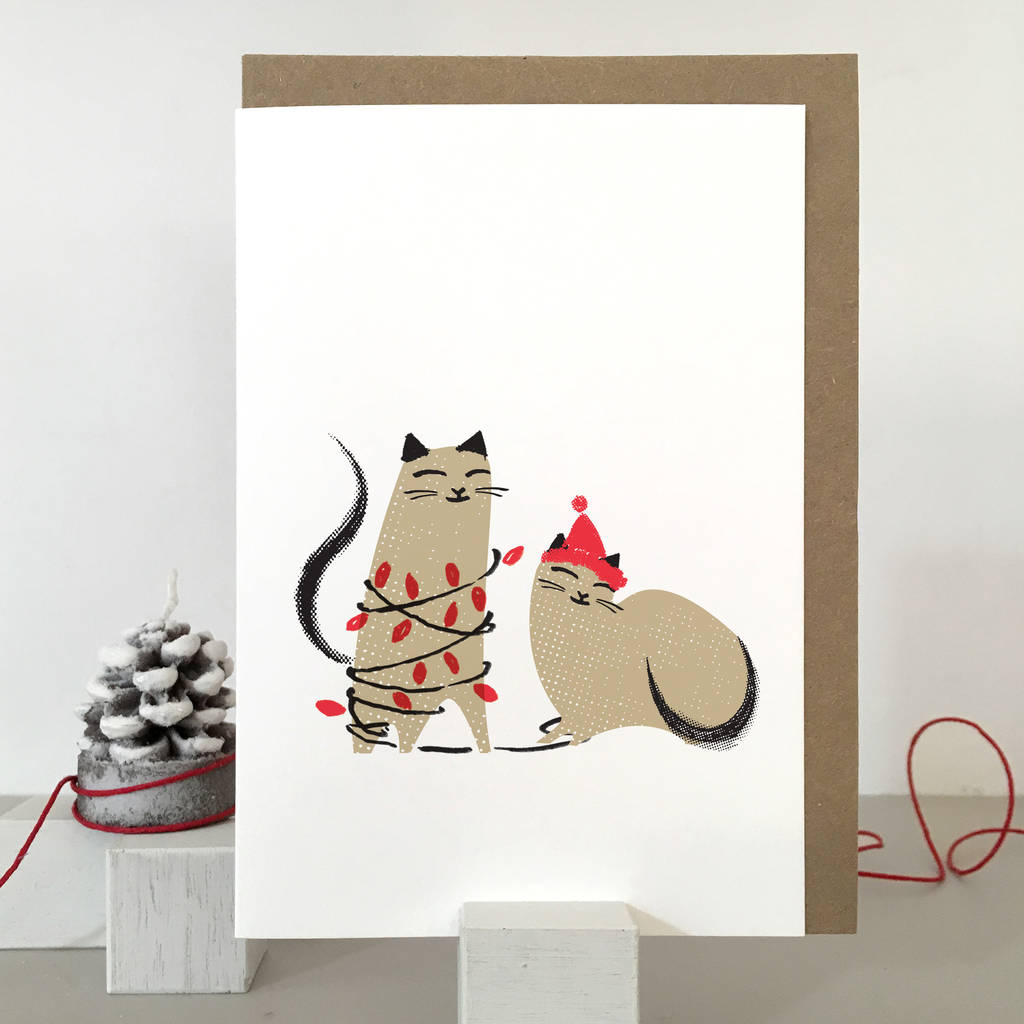 Cat Christmas Cards By Purpose Amp Worth Etc