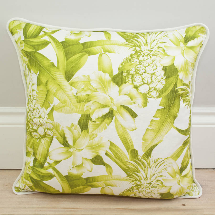 how to clean belgian linen sofa interesting designs pineapple print cushion by little paradise ...
