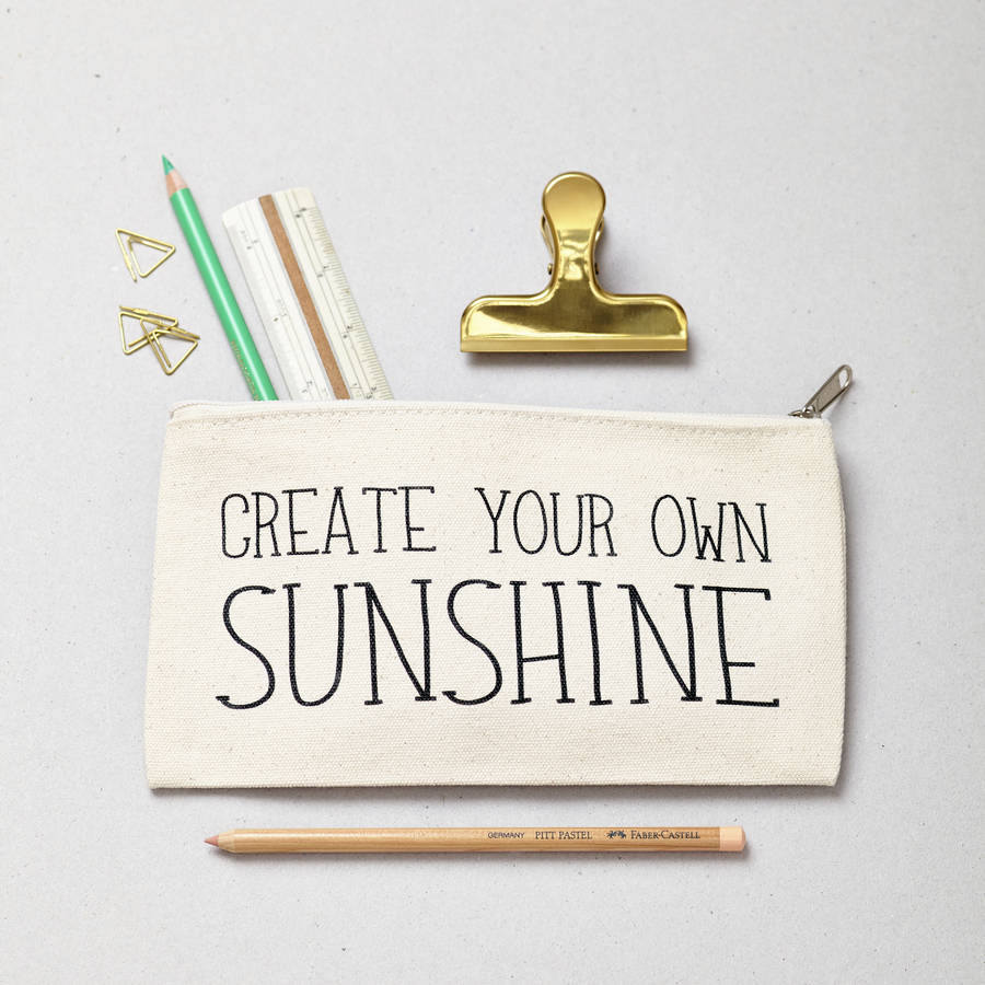 Create Your Own Sunshine Pencil Case By Tillyanna