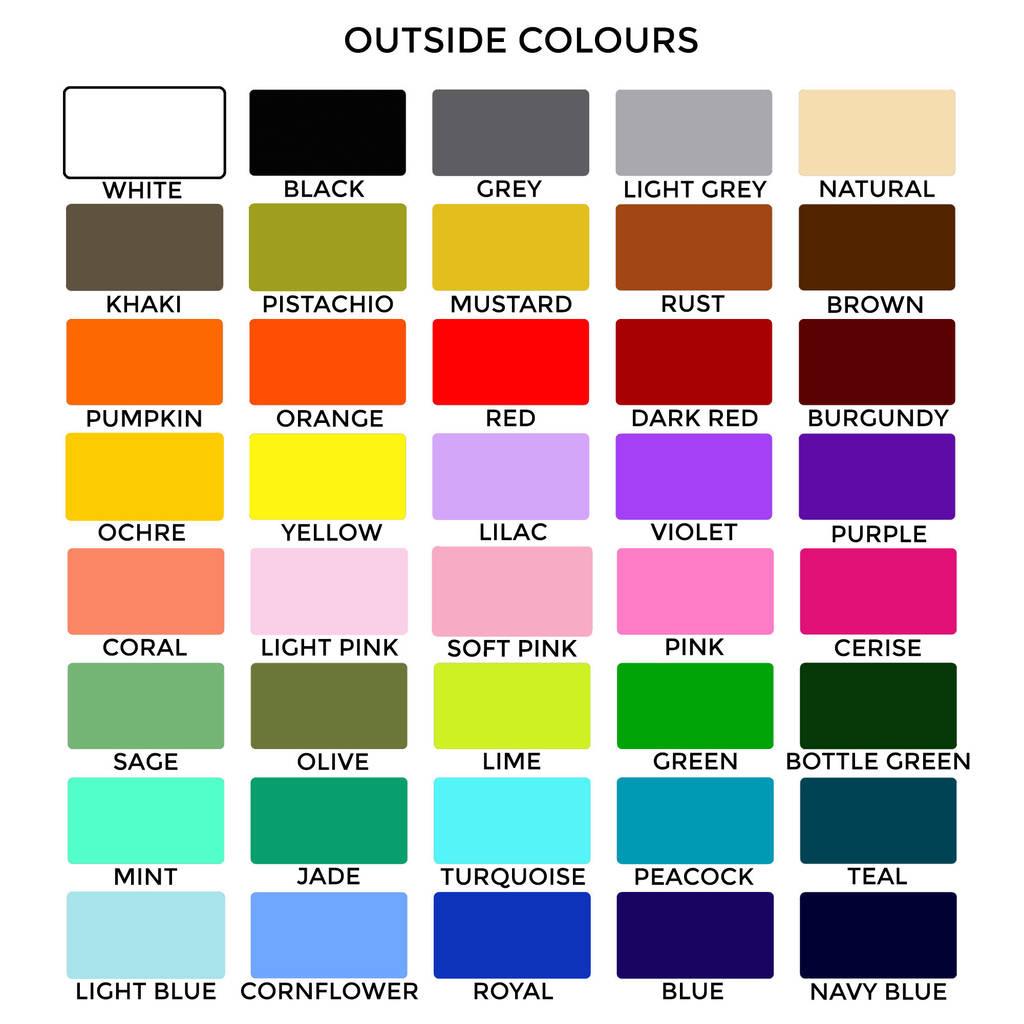 hight resolution of outside fabrics