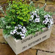 Personalised Wooden Crate Planter Plantabox