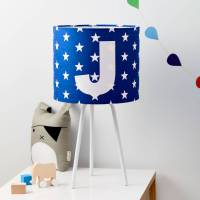 boys personalised star alphabet handmade lampshade by ...