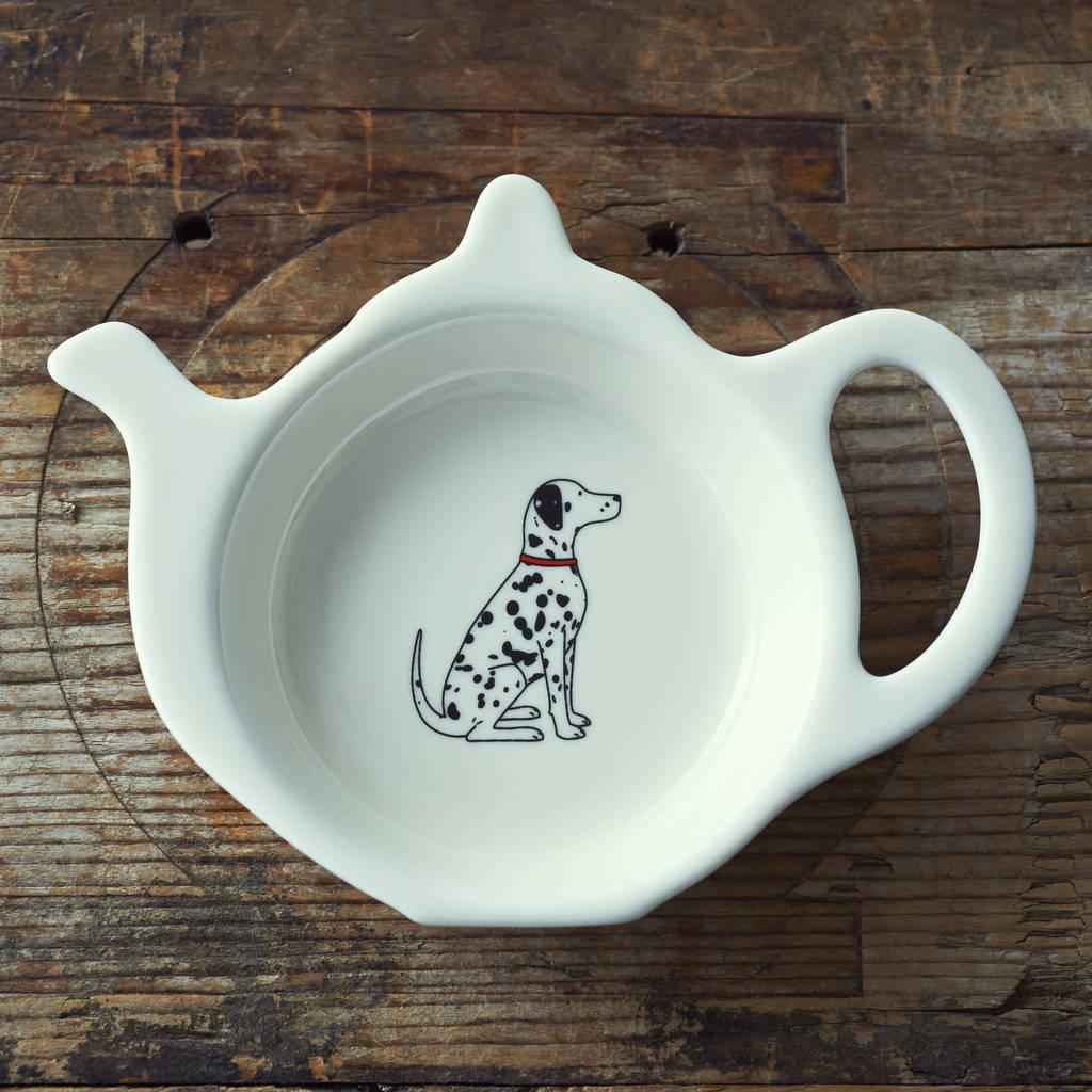 dalmatian teabag holder by sweet william designs