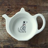 dalmatian teabag holder by sweet william designs