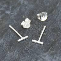 sterling silver bar stud earrings by ellie ellie ...