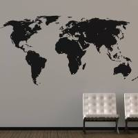 world map wall stickers by the binary box ...