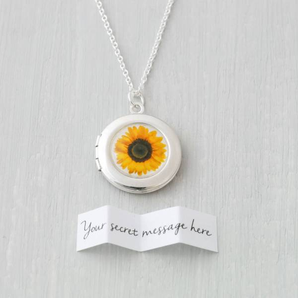 Sunflower Locket Necklace Cassiopi