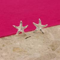 silver starfish earrings by argent of london ...