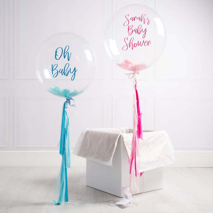 Personalised Baby Shower Confetti Bubble Balloon