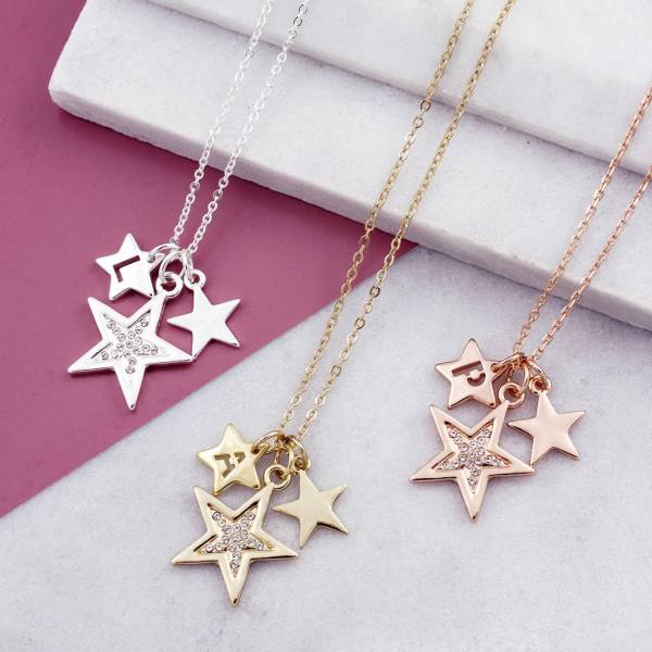 Personalised Star Necklace With Swarovski Elements & Jewellery