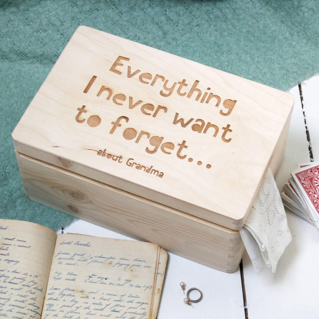 personalised wooden keepsake memory