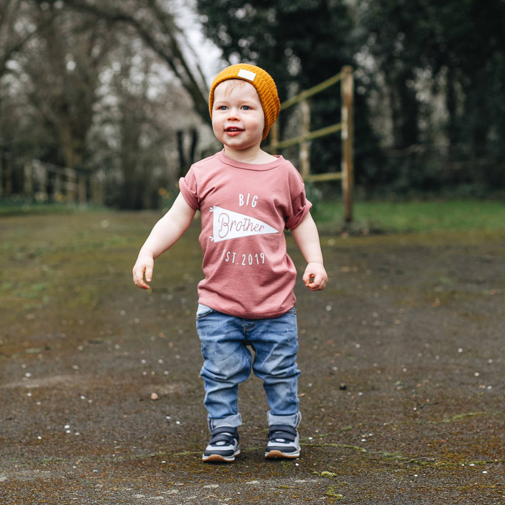 Personalised Big Brother New Baby Sibling T Shirt By