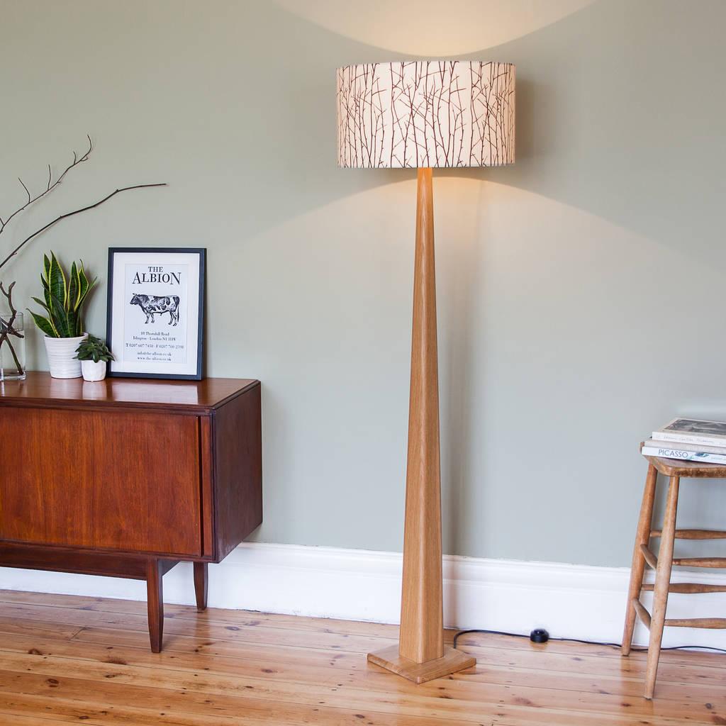 oak standard lamp by james design