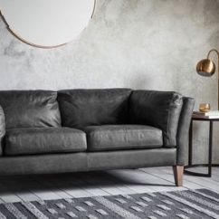 Black Leather Sofa Pure Set Super Soft By The Forest Co Notonthehighstreet Com