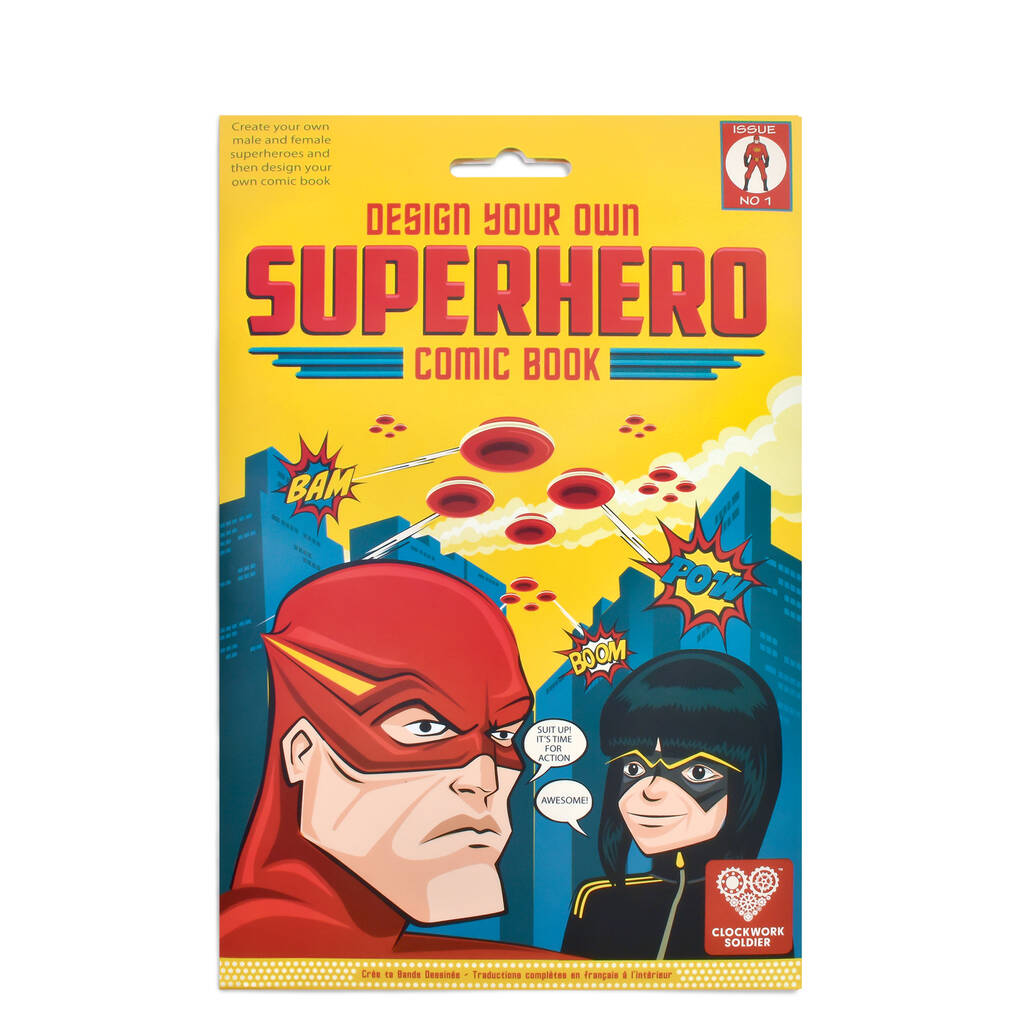 Design Your Own Superhero Comic Book By Clockwork Sol R