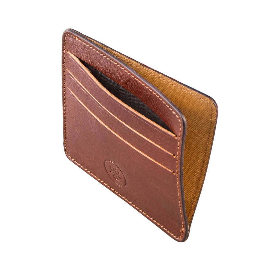personalised italian leather card holder the marco by maxwell scott bags  notonthehighstreetcom