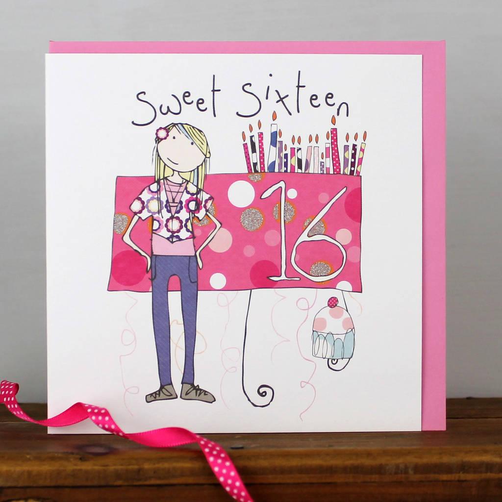 16th Birthday Card Boy Girl By Molly Mae