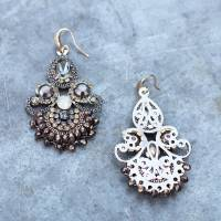 vintage style handmade chandelier earrings by the linen