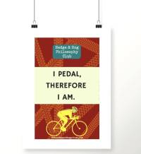 cycling wall art print gifts for cyclists by hedge and hog ...