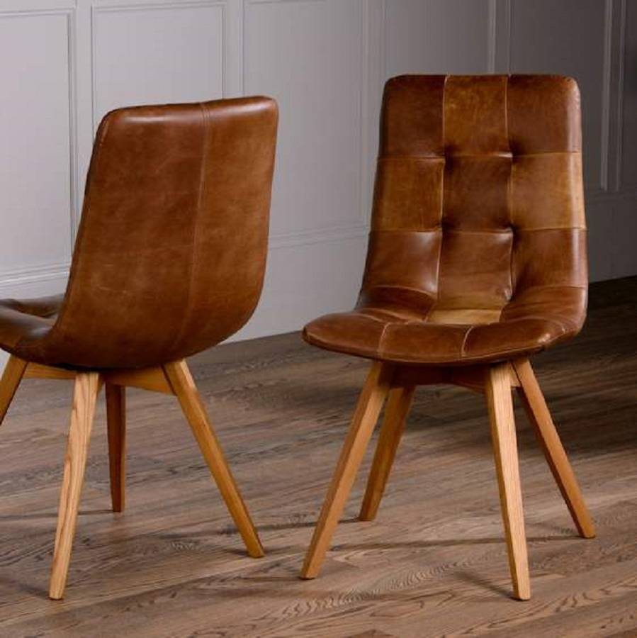 italian leather curved seat dining chair brown or grey by