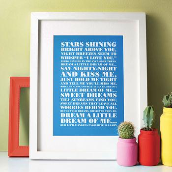 Favourite Lyrics Poster cheap gift ideas for teen girls